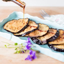 <span>Deep fried aubergine with syrup</span><i>→</i>